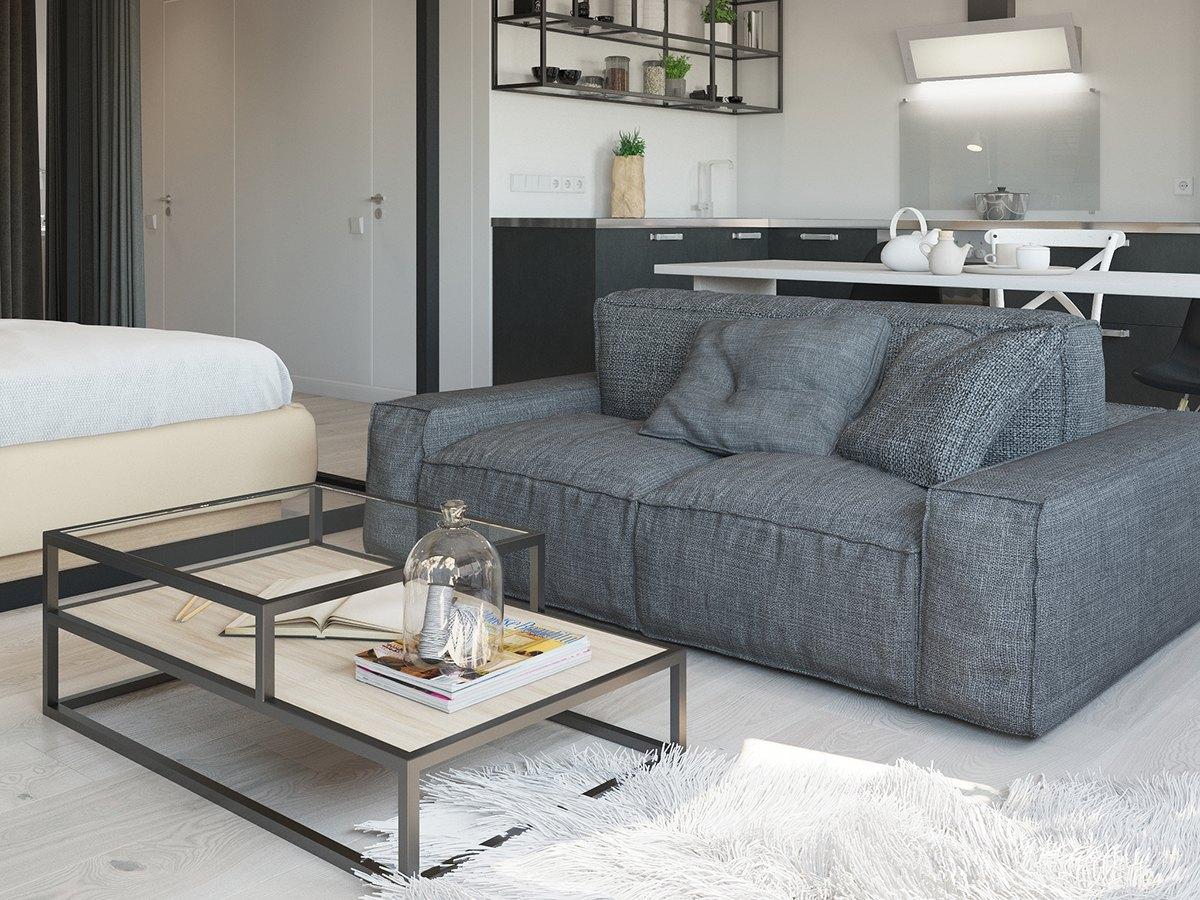 Studio Apartment Interior Design With Cute Decorating Ideas  RooHome  Designs  Plans