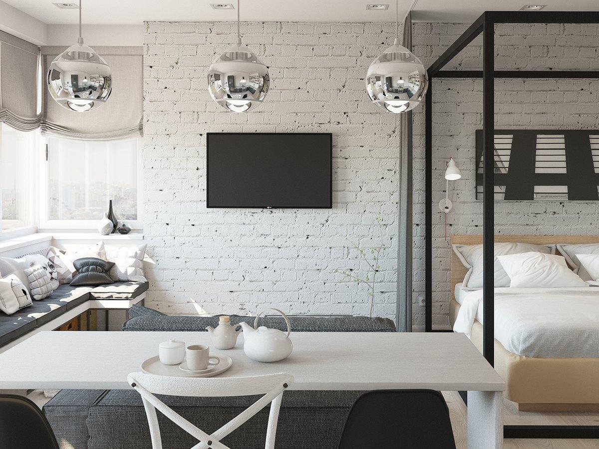 Studio Apartment Interior Design With Cute Decorating