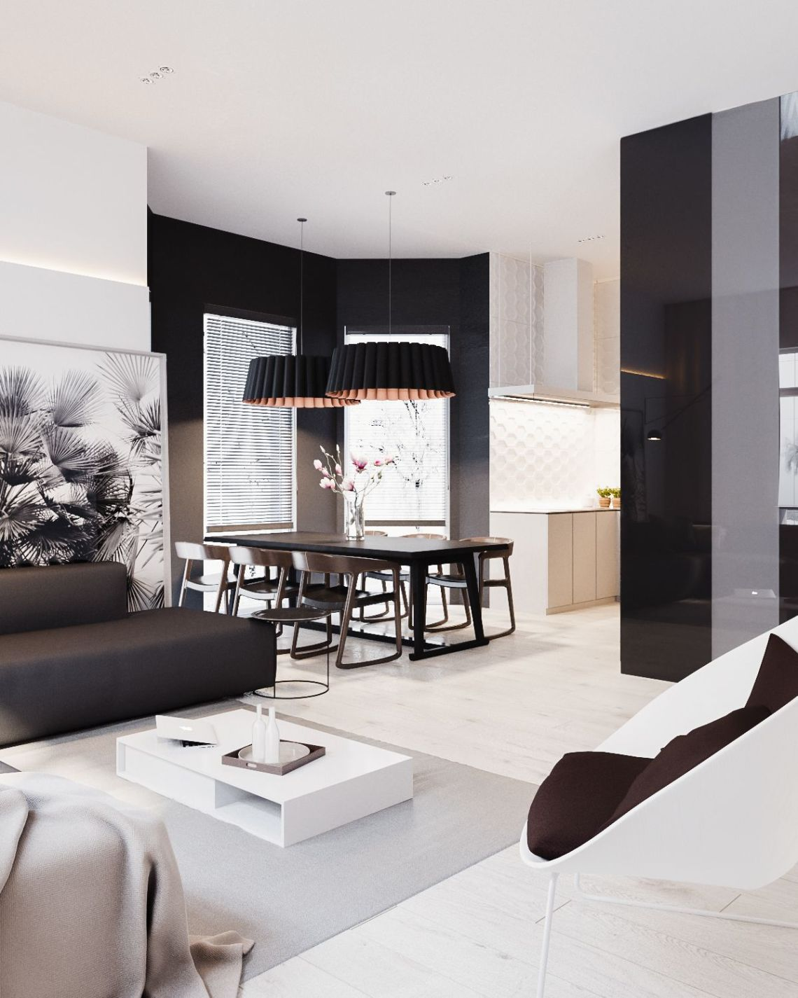 Modern Stylish Apartment Interior Design In A Simplicity ...