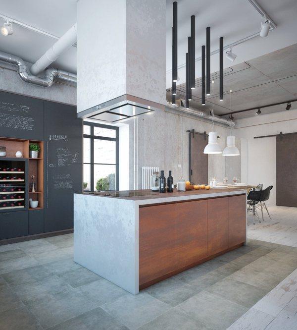Industrial Home Kitchen Design