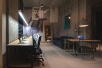 Industrial Living Room and Creative Home Office Design ...