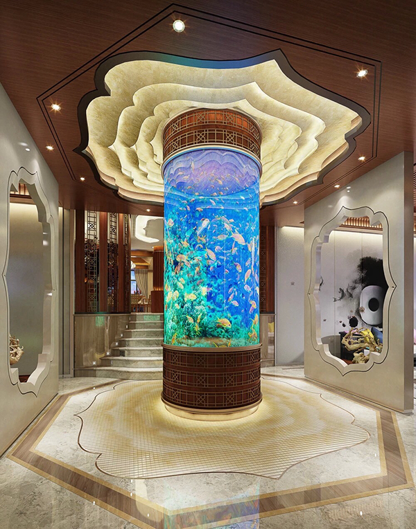 Luxury Home Interiors With Beautiful Aquarium Decor  RooHome