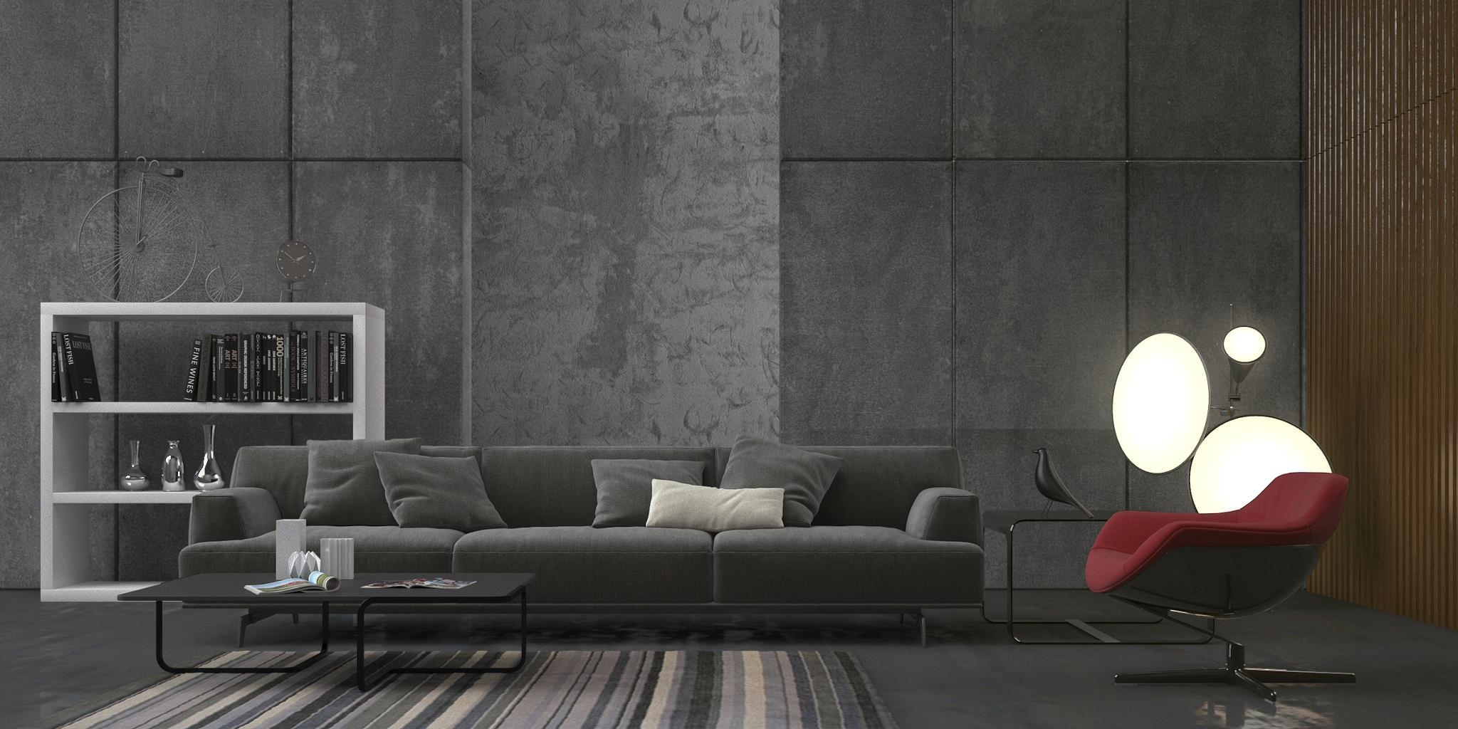 small living room ideas black leather sofa apartment therapy the brilliant way to create your minimalist ...