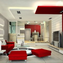 Colour Shade For Living Room Old West Ideas Decorating With Red And White Color Looks So Hata Mari Design