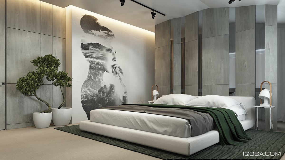 Home Interior Design Combining With Cool Wall Texture And