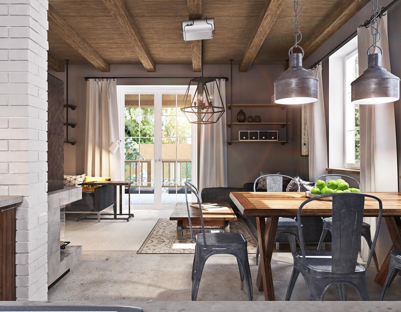 Studio Apartment Design With Industrial Decor Looks So