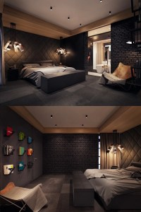 Dark Color Bedroom Decorating Ideas Shows A Luxury and ...
