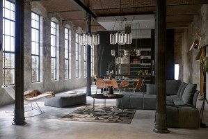 An Industrial Theme of Apartment Interior Design Showing A ...
