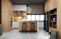 Modern Kitchen Designs With Wooden Accent Decor Brings A ...