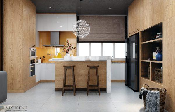 Modern Kitchen Design With Wooden Accent Decor Brings