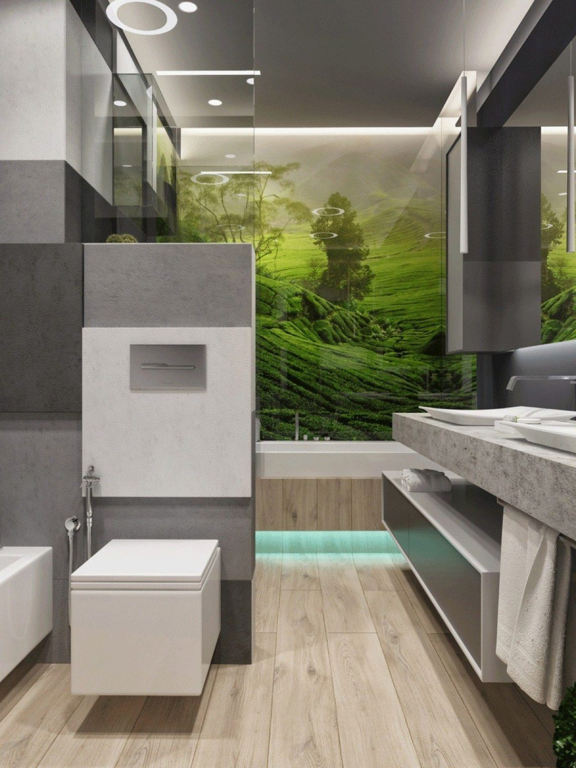 Contemporary Bathroom Decor Ideas Combined With Wooden ...