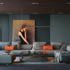 Living Room Paint Ideas Uk 2016 Interior Design With Dining Table Dark Sophisticated Decor Bring The Orange And Black Artwork