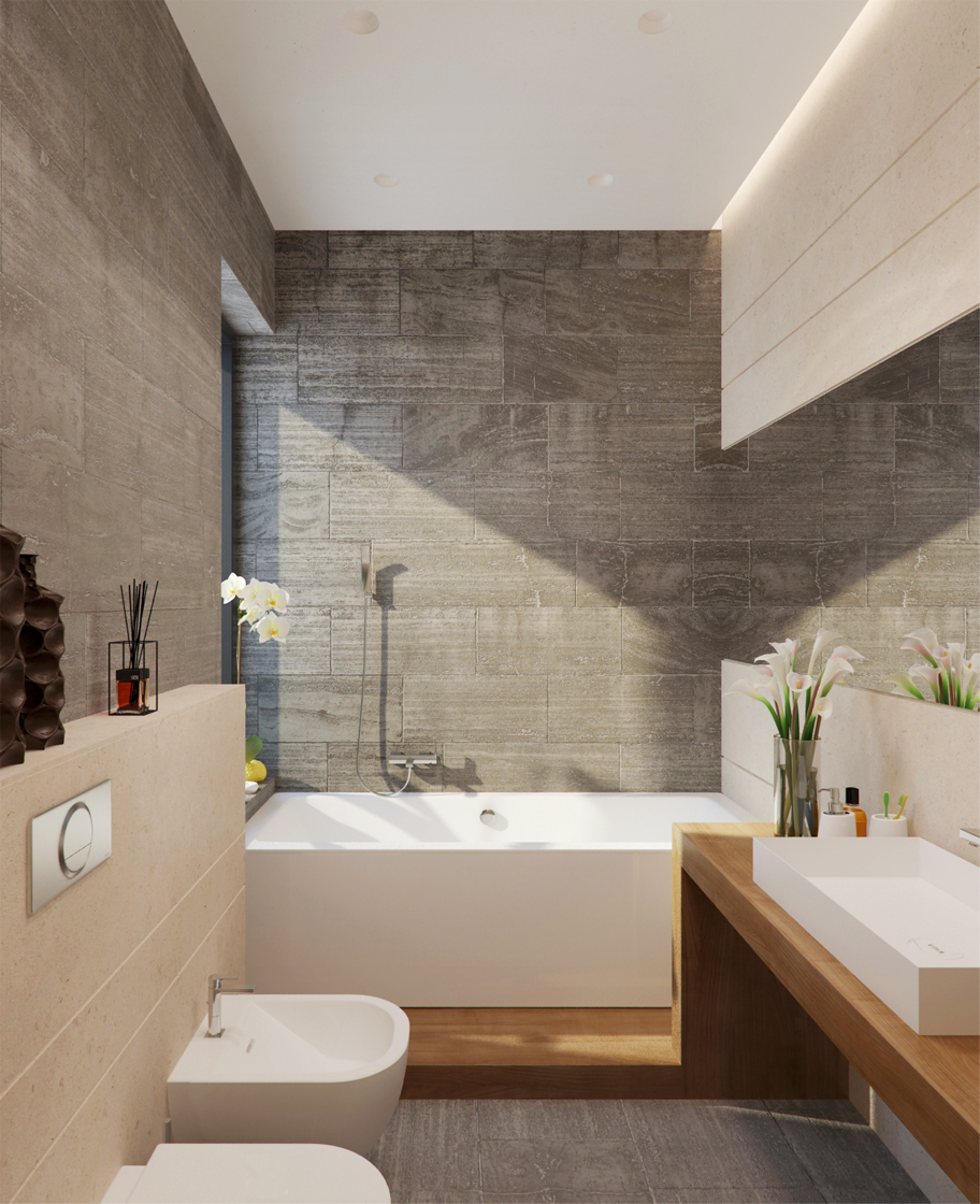 Tips How To Create a Beautiful and Awesome Bathroom Decor With Variety of Wall Texture Design