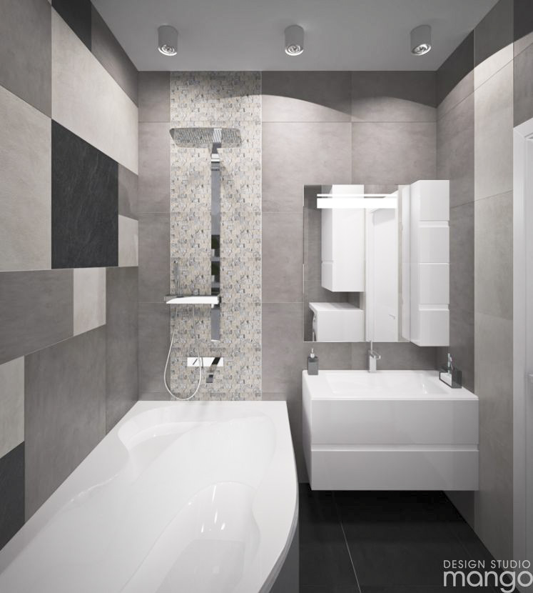 Modern Small Bathroom Designs Combined With Variety of Tile Backsplash Decor Looks So Modern