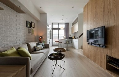 living minimalist room alfonso interior apartment designs taiwan space decorating inspire decorated creating contemporary feature wooden much modern residence private