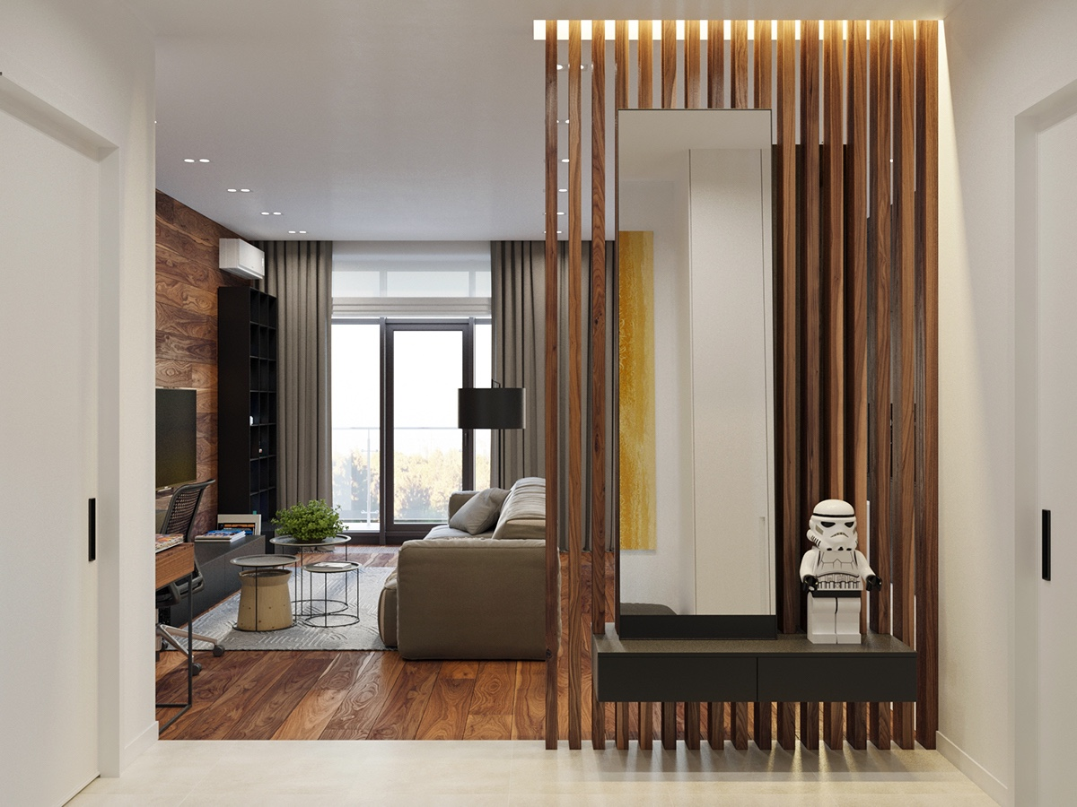 Applying a Rustic Studio Apartment Design Which Decor By