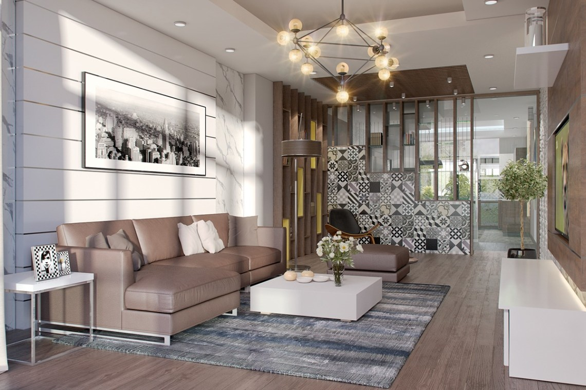Types of Spacious Modern Living Room Designs Which ...
