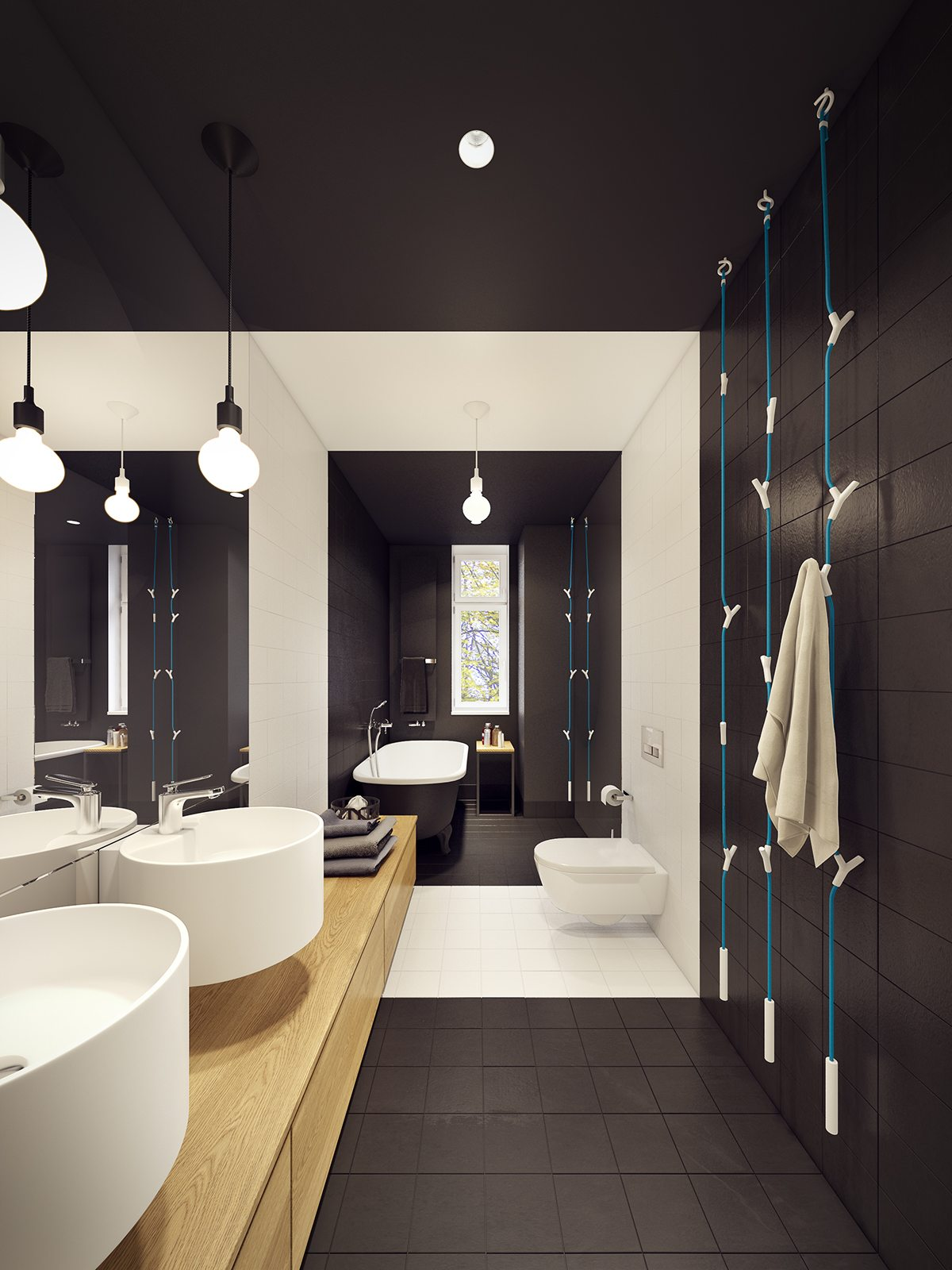 Applying A Trendy Bathroom Designs Which Arranged With A