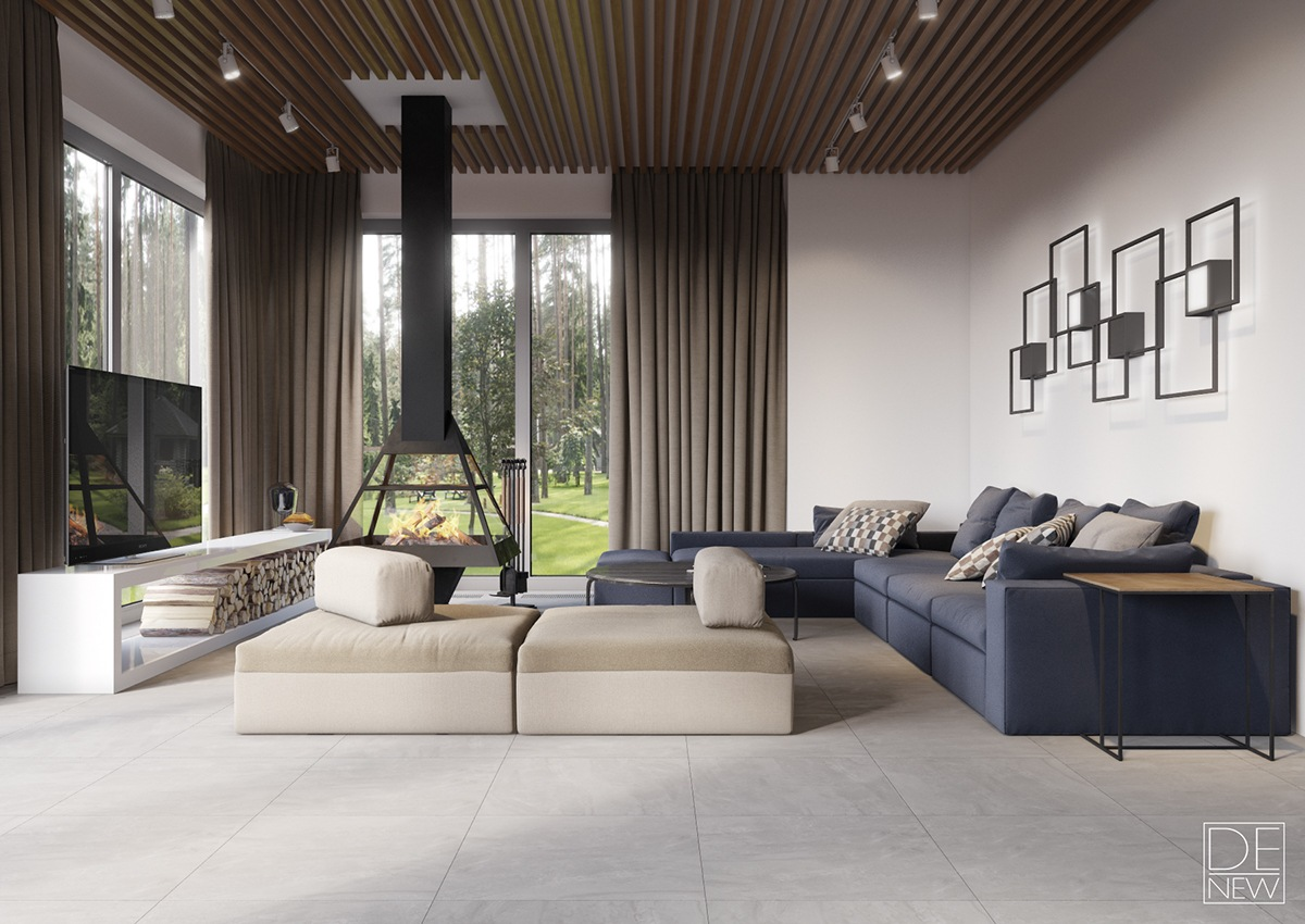 gray modern sofa set chesterfield queen sleeper how to arrange luxury home interior design which combine ...