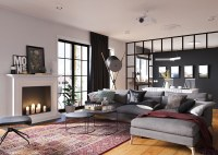 Minimalist Studio Apartment Design Applied With a Gray and ...