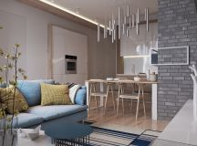 Contemporary Home Design Exposed Brick Pads and Muted ...