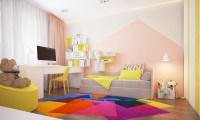 Beautiful home design complete with a colorful kids room ...