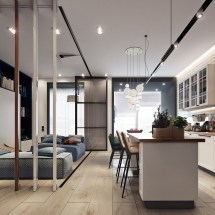 Beautiful Studio Apartment Design Combined With Modern