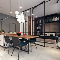 Beautiful studio apartment designs combined with modern ...