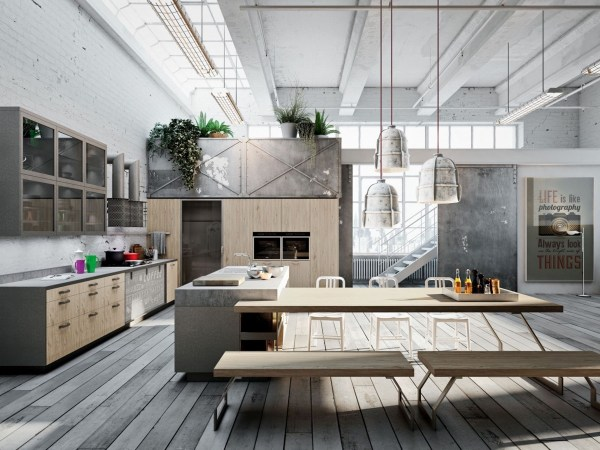 Industrial Kitchen Design Applied With Fashionable Decor Ideas Outstanding