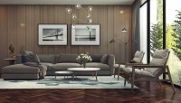 Adorable Living Room Designs With Wooden and Chic Features