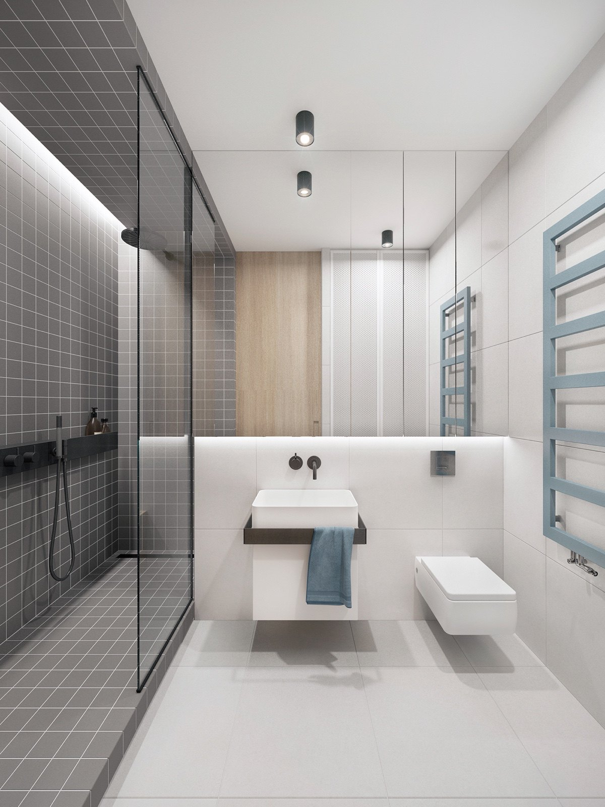 Trendy Bathroom designs Combined With Modern and Geometric