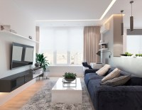 Modern Apartment Concept with Modern Color Scheme and ...