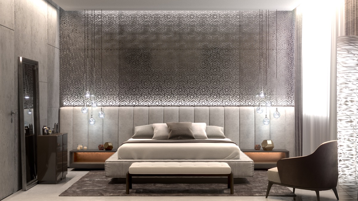 Beautiful Bedrooms with Creative Accent Wall Ideas Looks