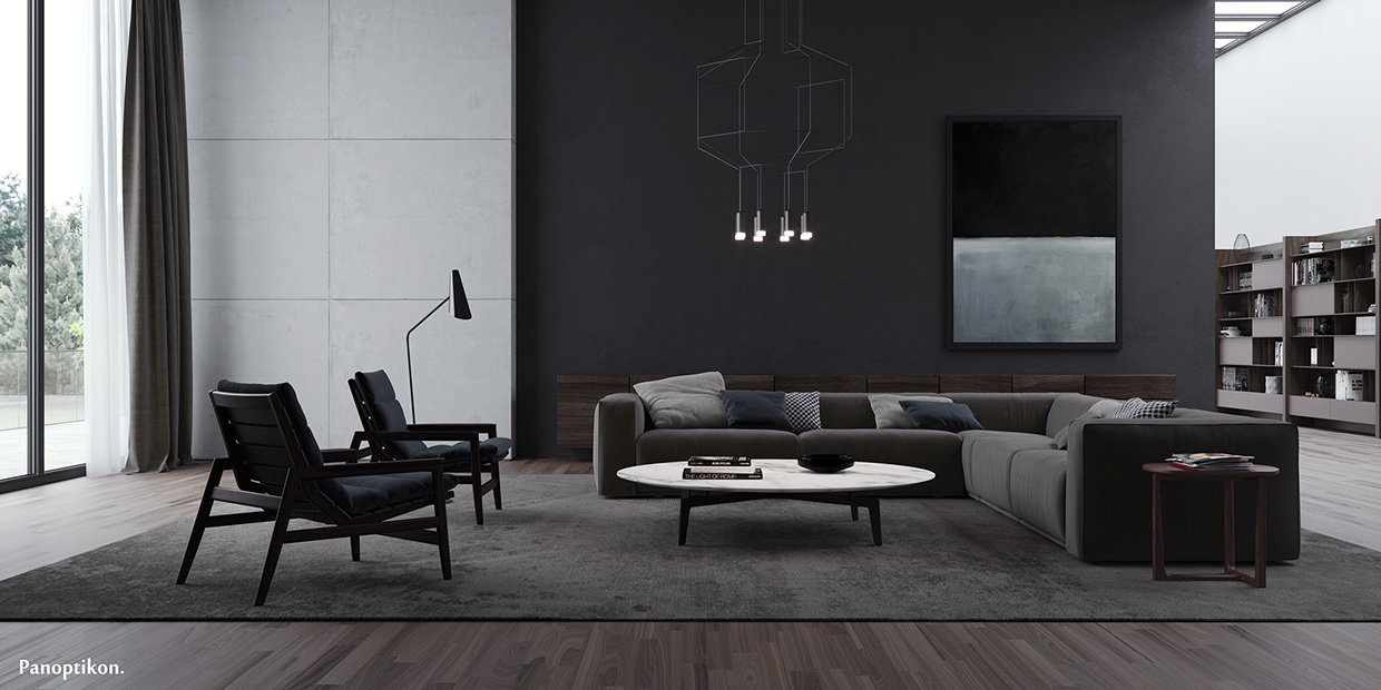 Sleek Living Room Concept That Demonstrate Warm And