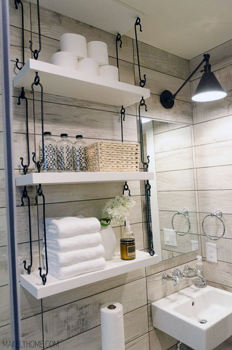 Simple Small Bathroom Decor Brings The Ease Inside Of It Roohome
