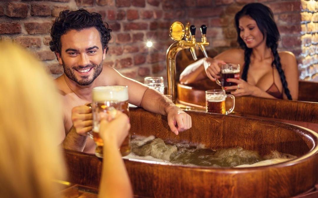 Dikke tip: baden in het bier!