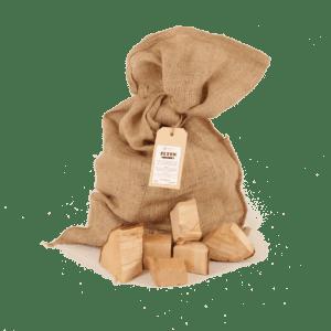 Elzen Rookhou Chunks 2-5kg voorkant met los