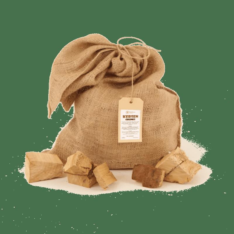 Kersen Rookhout Chunks 2-5kg voorkant los