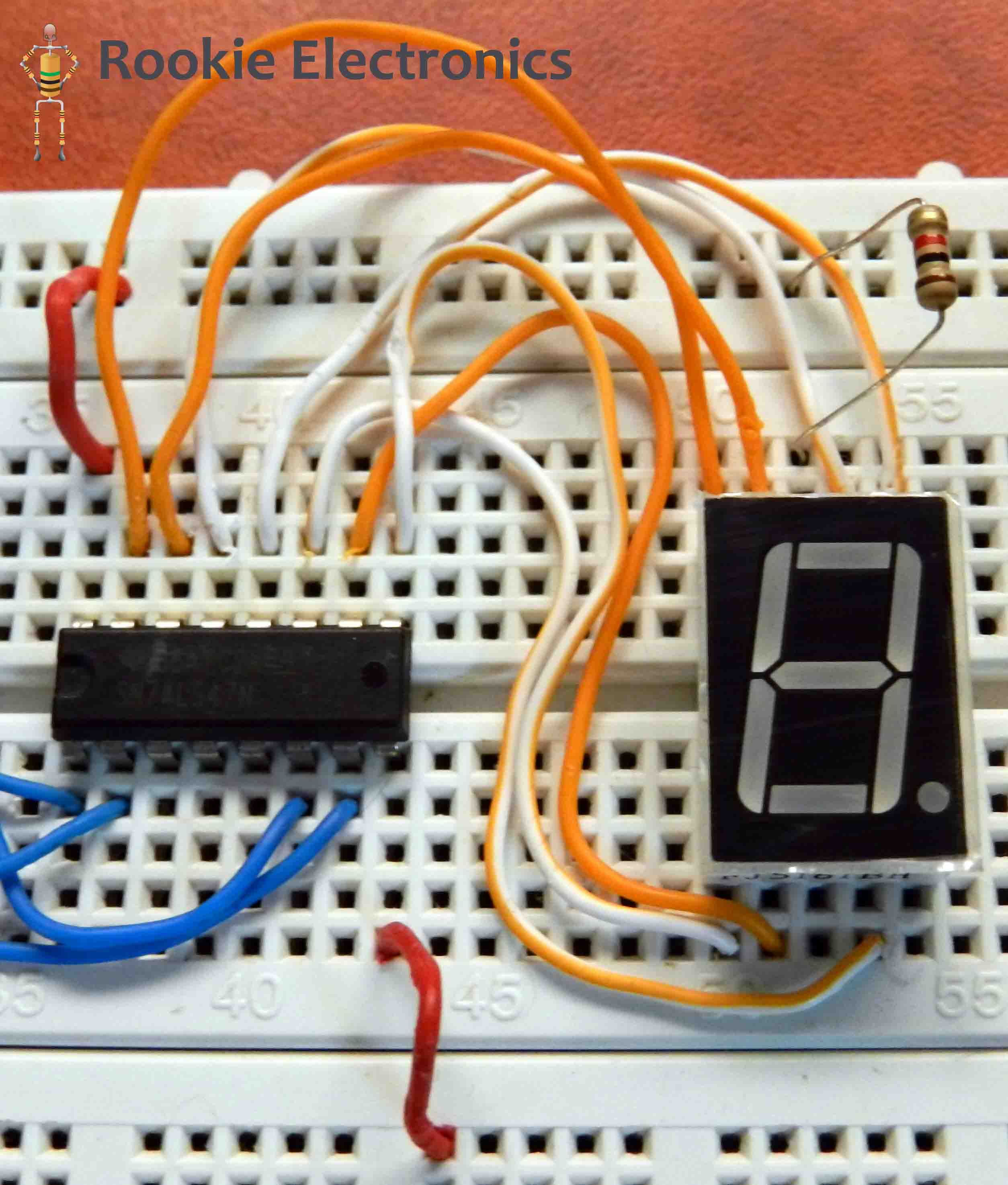 Seven Segment Display Using 555 Timer 74ls90 Bcd Decade Counter