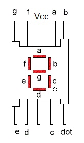 Common Anode Seven Segment Display Pin Diagram