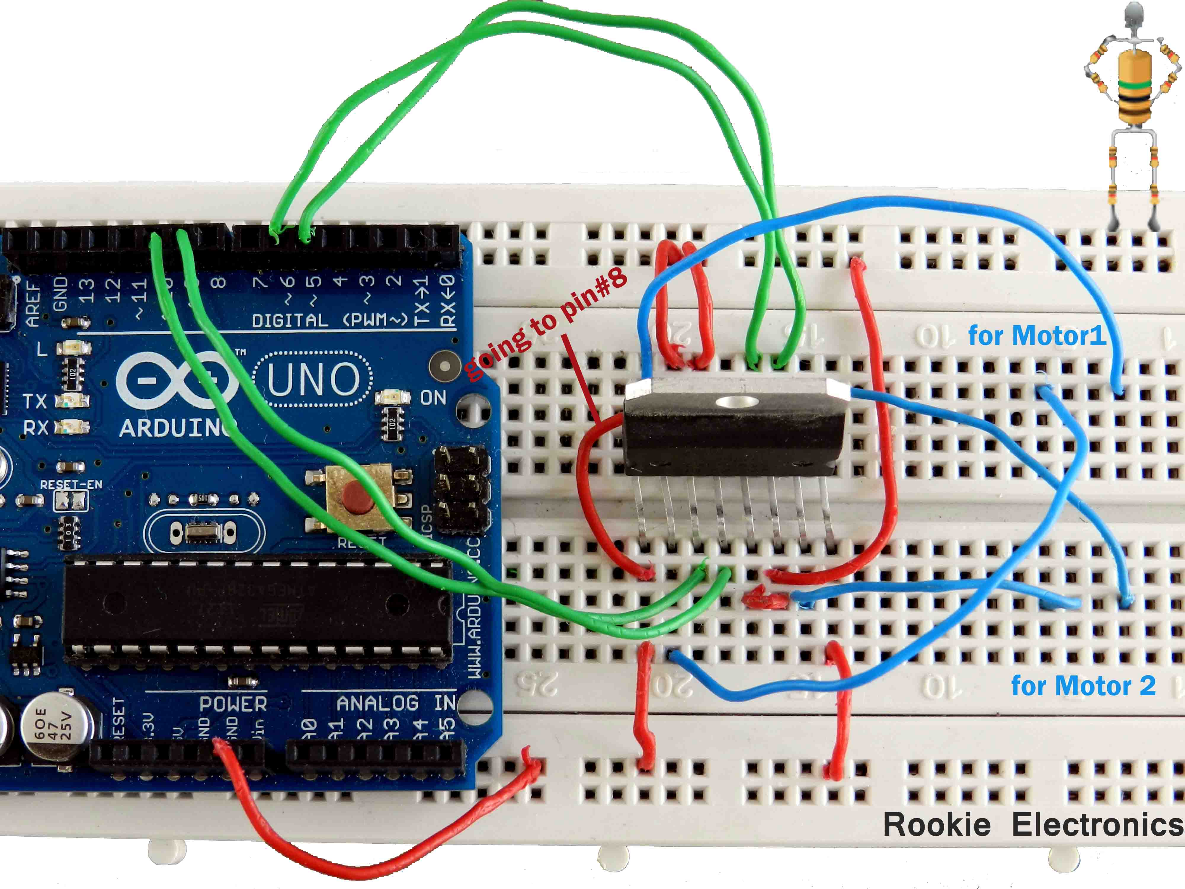 l298 h bridge circuit diagram wire frame diagrams basic programmed robot rookie electronics