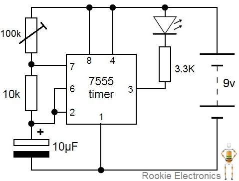 Flashing Led Circuit Diagram Flashing LED Indicator Wiring