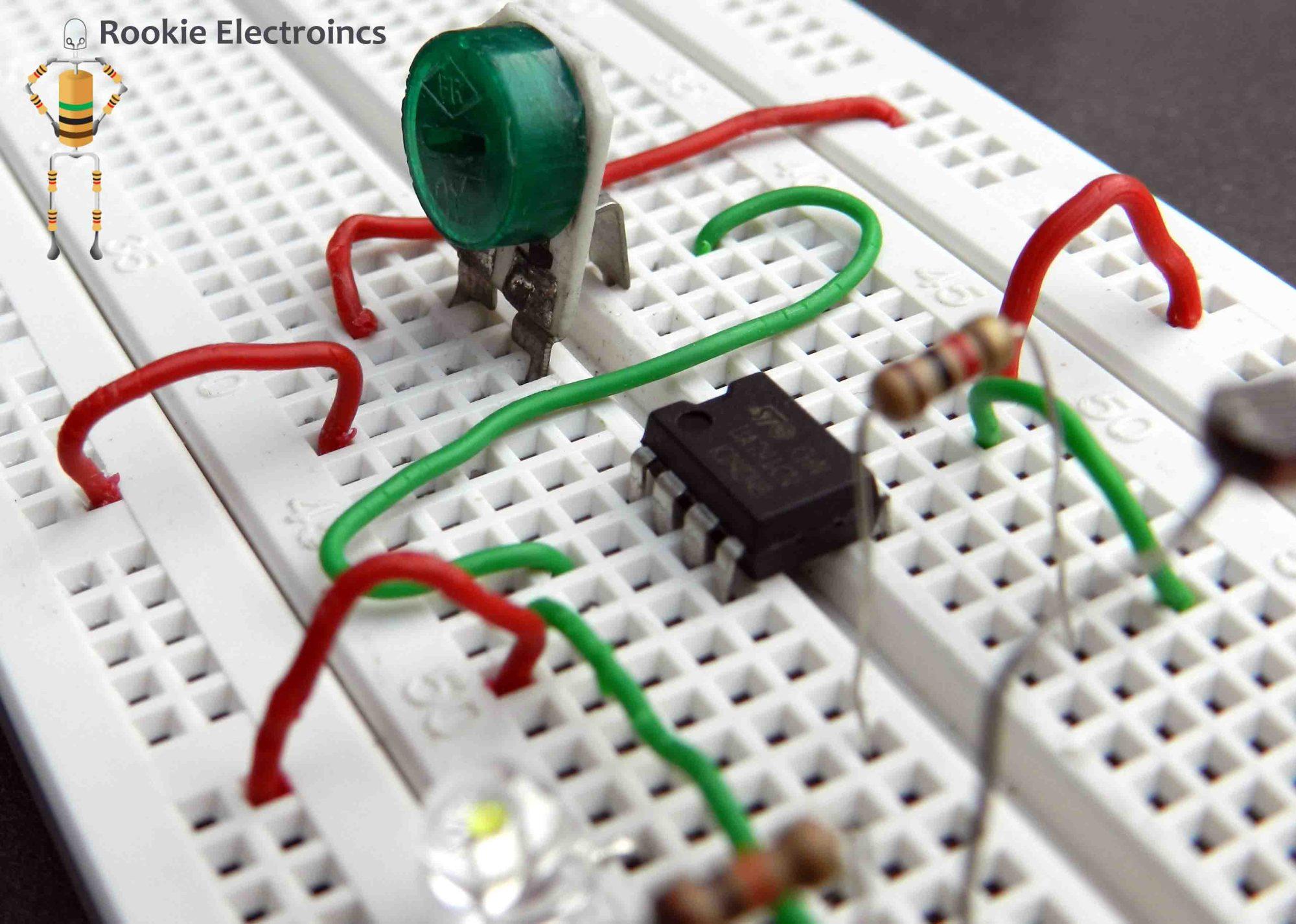 hight resolution of simple light sensor using 741 op amp