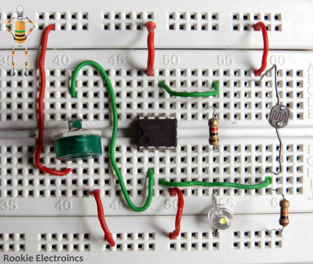 medium resolution of simple light sensor using 741 op amp rookie electronics electronics robotics projects