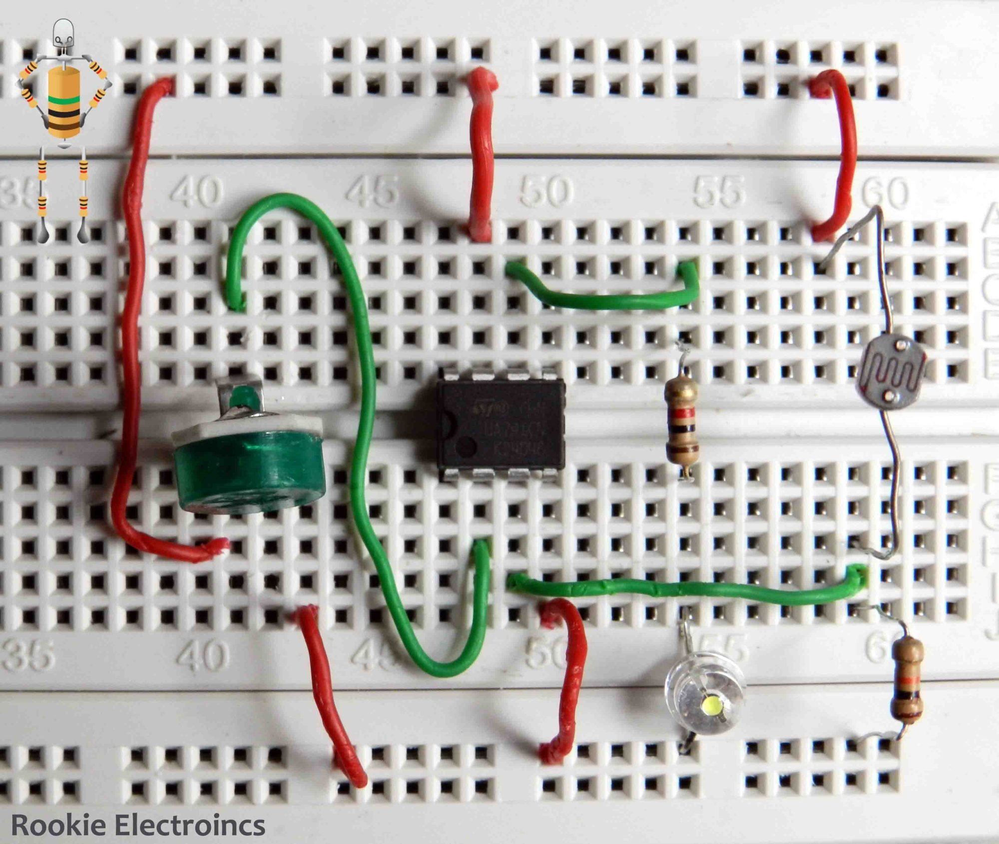hight resolution of simple light sensor using 741 op amp rookie electronics electronics robotics projects
