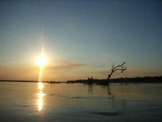 Sonnenuntergang im Selous Nationalpark