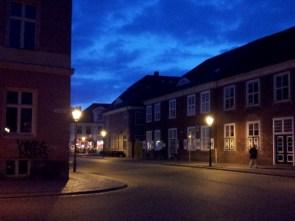 Das Holländische Viertel bietet auch in der blauen Stunde eines schönen Anblick.