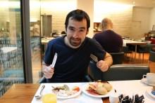 Auch ich hab das Frühstück ausgiebig genutzt.
