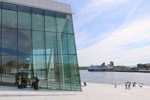Oper Oslo Hafen Norwegen Fähre DFDS Crown Seaways