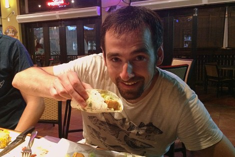 Lecker Fischtacos essen in Key West.